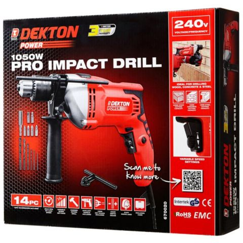 DEKTON POWER 240V 1050W PRO IMPACT DRILL - 14