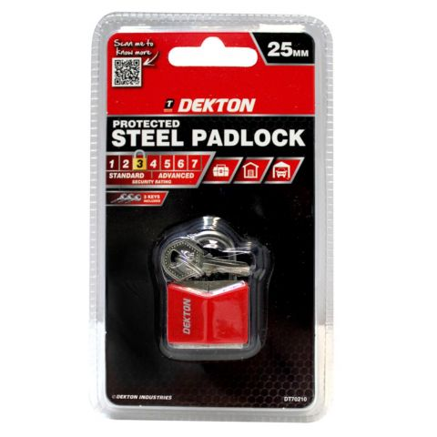DEKTON 25MM COVERED STEEL PADLOCK DT70210